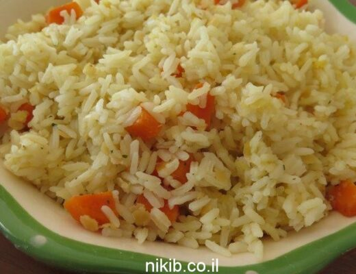 אורז עם עדשים אדומות