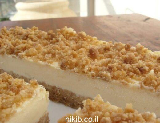 חיתוכיות גבינה אפויה ושוקולד לבן