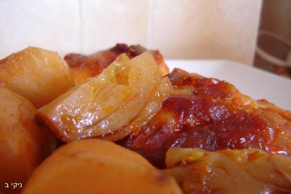 חמין עוף בתנור