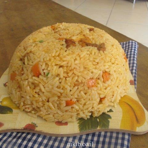 כנפיים עם אורז ארוחה שלמה בסיר
