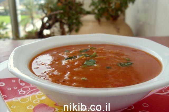 מרק עגבניות בטטה ואורז