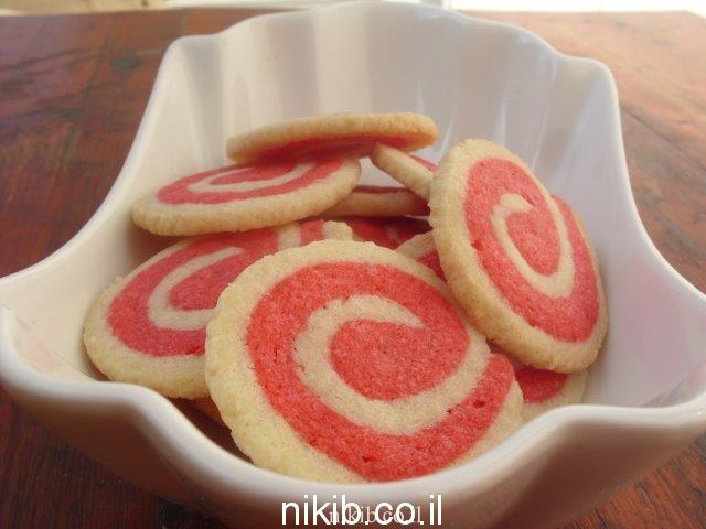 עוגיות שבלולים ורודים