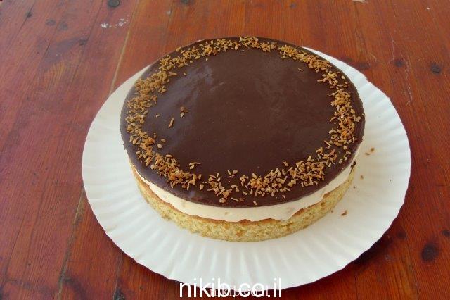 עוגת מוס אננס ושוקולד