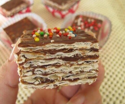 עוגת מצות עם שוקולד