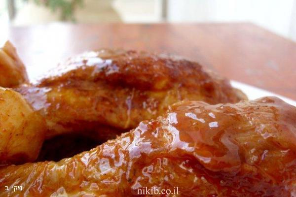 כרעיים עוף עם ירקות בדבש וקינמון