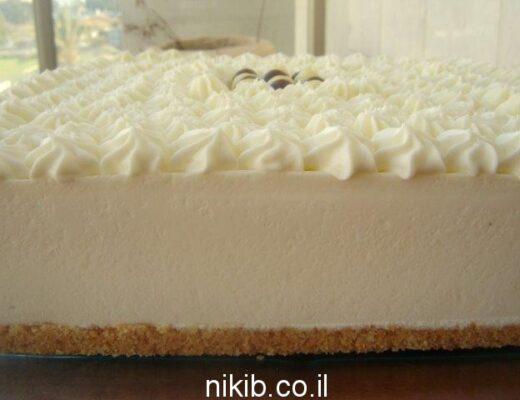 עוגת גבינה ושוקולד לבן