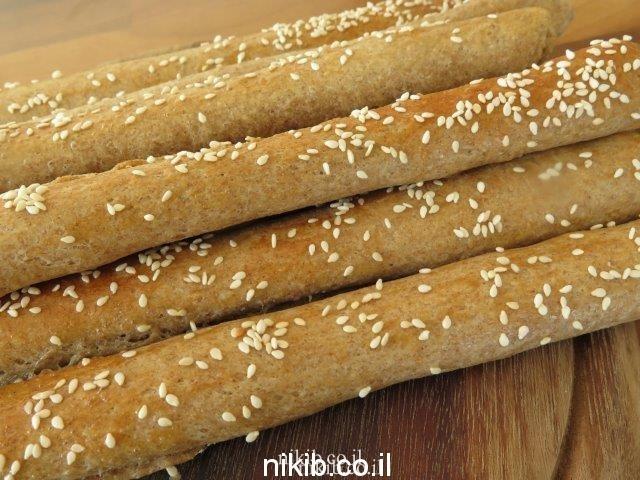 מקלות לחם מקמח שיפון