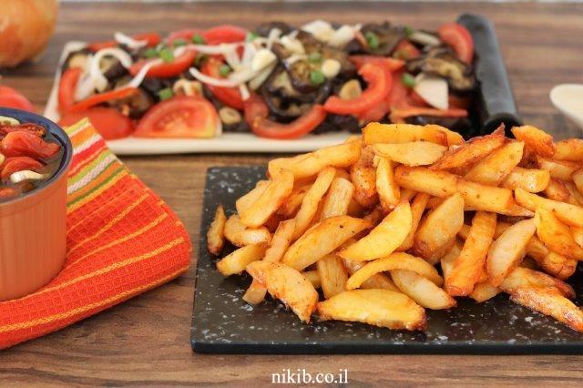 תפוחי אדמה אפויים ללקק ת'אצבעות כמה טעים!