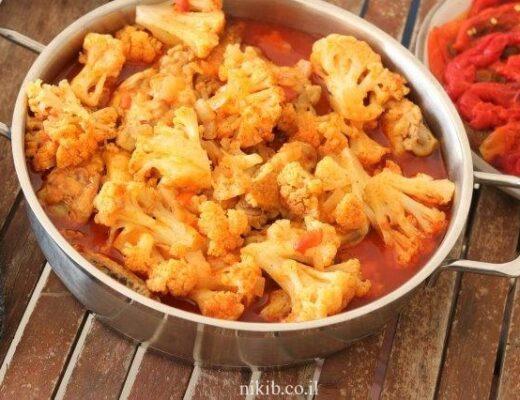 תבשיל עוף עם כרובית