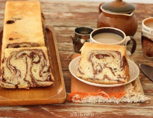 עוגת שיש רכה ועסיסית פרווה