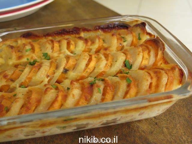 תפוחי אדמה ובטטות מוקרמים