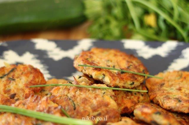לביבות ירק עם עוף