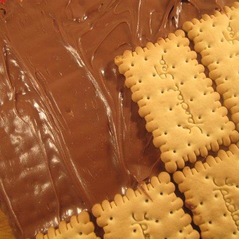 ביסקוויטים עם שוקולד