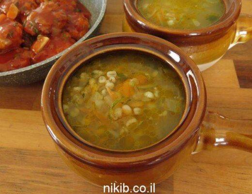 מרק ירקות וגריסים מעולה