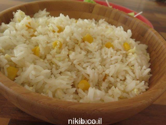 אורז מוקפץ עם תירס