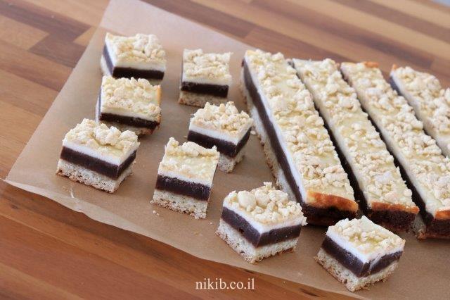 ריבועי שוקולד גבינה ממכרים