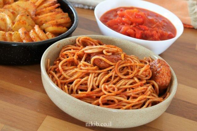 כדורי בשר עם ספגטי
