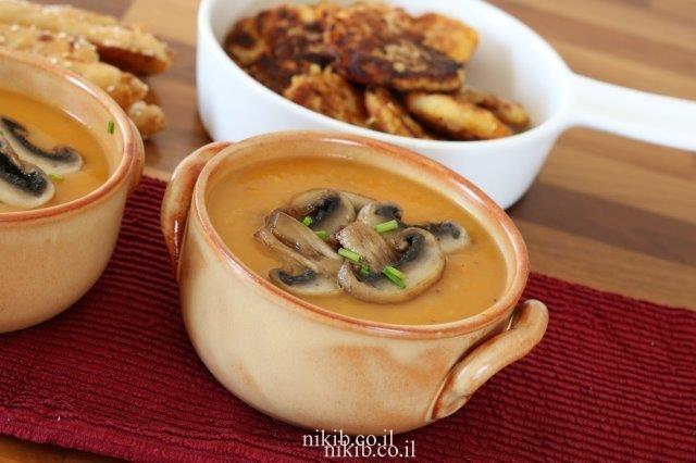 מרק גזר ופטריות