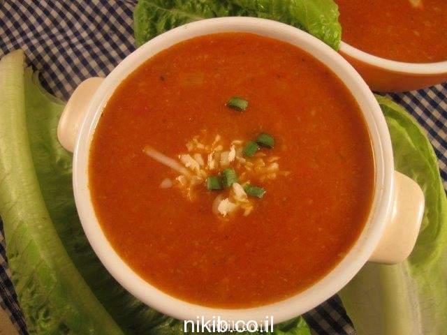 מרק עגבניות קלויות