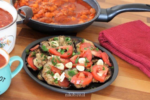 סלט פלפלים ועגבניות מוחמצים