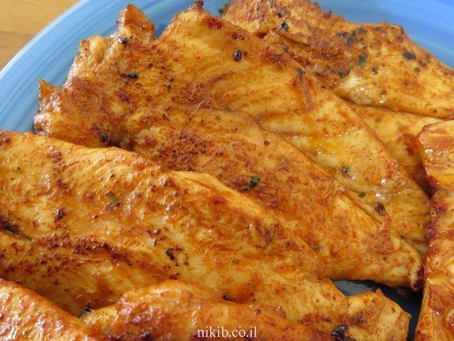 חזה עוף ברוטב חרדל ודבש
