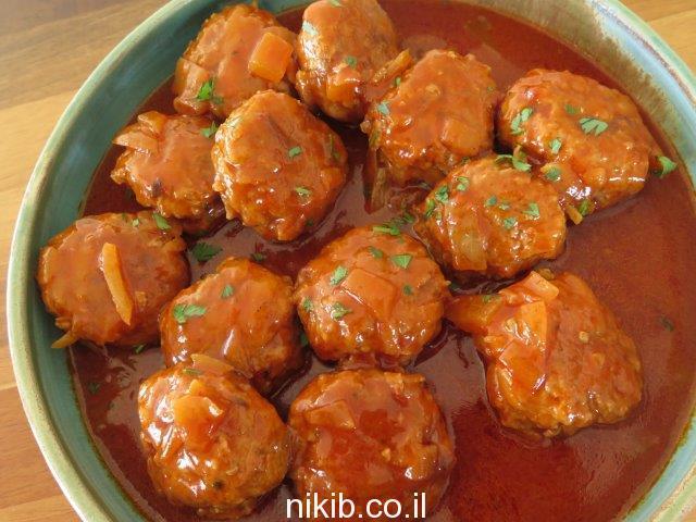קציצות בשר ברוטב חמוץ מתוק