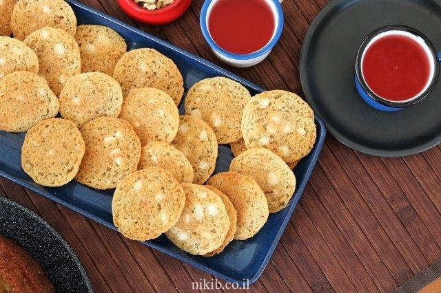 עוגיות שקולד צ'יפס עם אגוזים