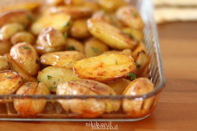 תפוחי אדמה קטנים בתנור