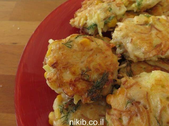 לביבות אורז ותפוחי אדמה