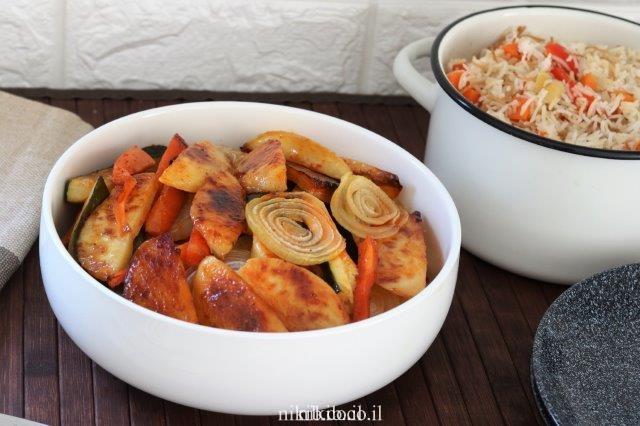 מתכון לירקות אפויים בתנור