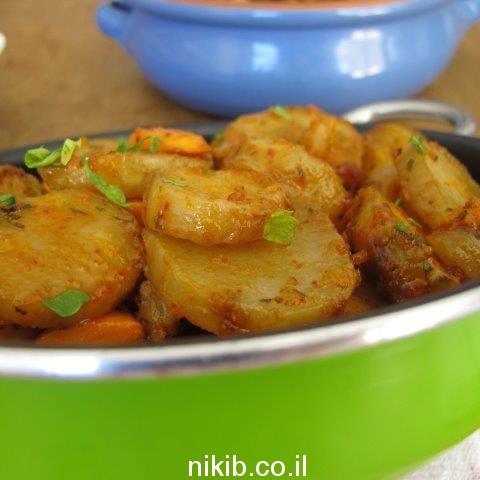 ירקות שורש צלויים בתנור