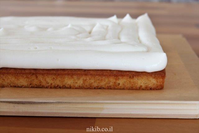 עוגת שכבות מוס גבינה
