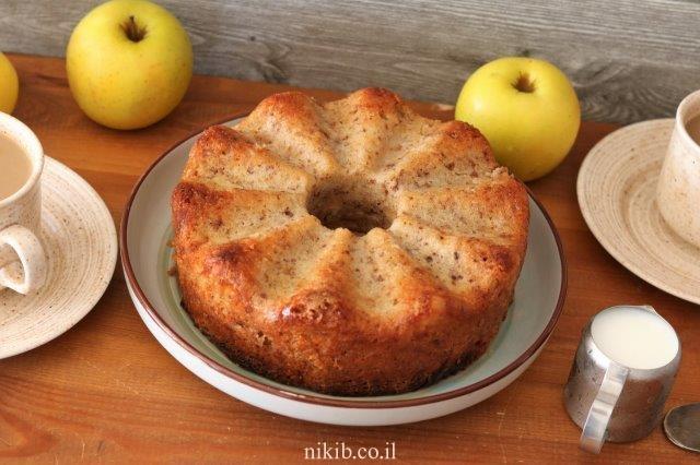 עוגת תפוחים מהירה
