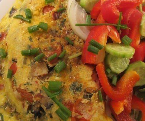 חביתת ירק עם גבינות וירקות