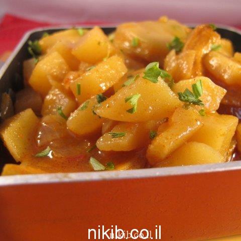 תפוחי אדמה עם לבבות ארטישוק