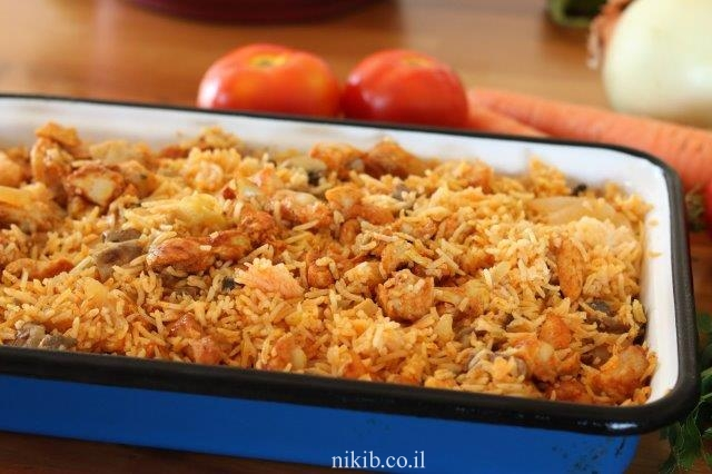 פרגיות עם אורז בתנור