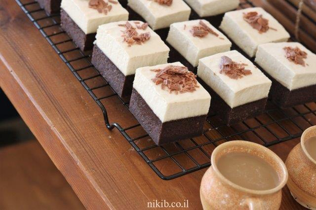 עוגת שוקולד וקצפת