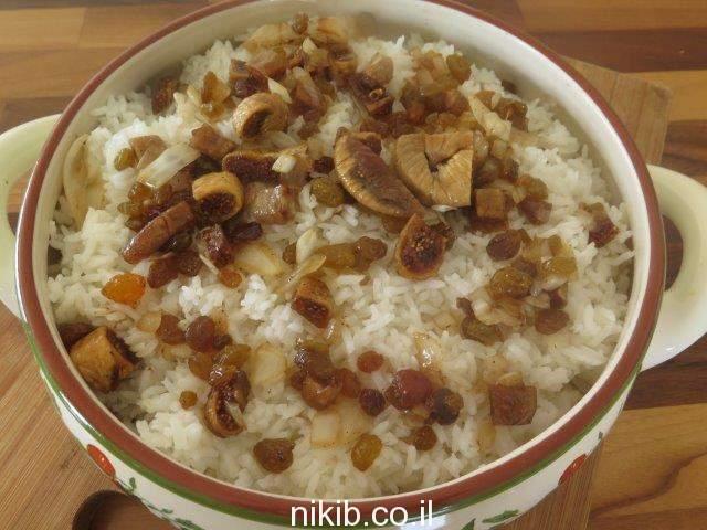 טנזיה – אורז עם פירות יבשים