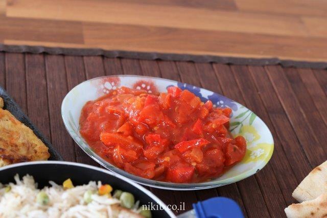 סלט פלפלים ועגבניות