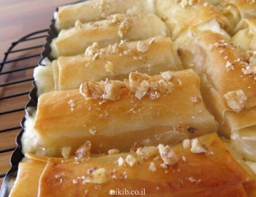 מאפה פילו במילוי גבינה מתוקה