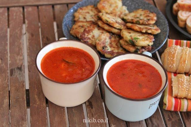 מרק עגבניות וירקות