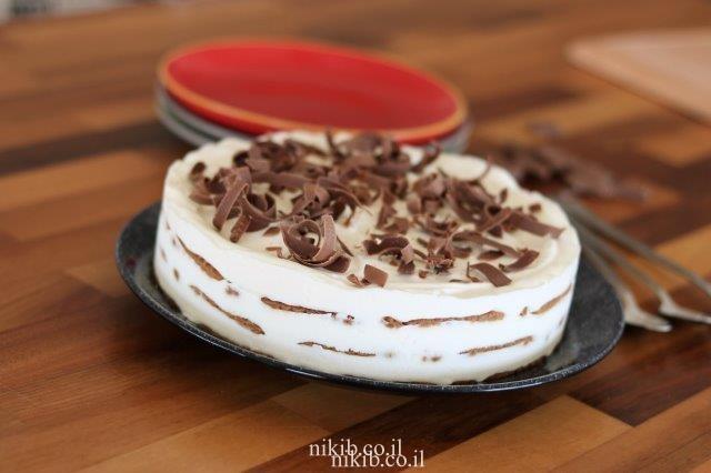 עוגת ביסקוויטים גבינה משגעת!