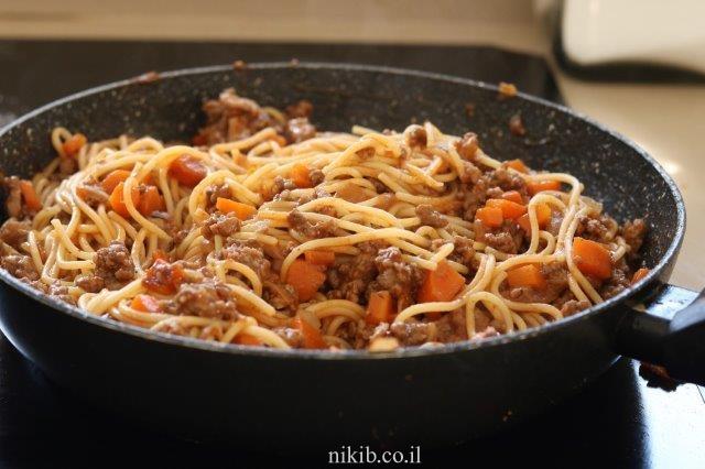 ספגטי בולונז הכי קל שיש וטעים