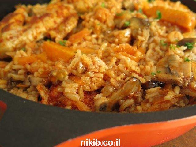 עוף עם אורז בתנור התבשיל המושלם