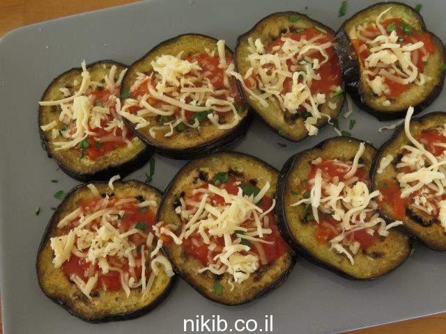 פרוסות חצילים בתנור עם גבינה