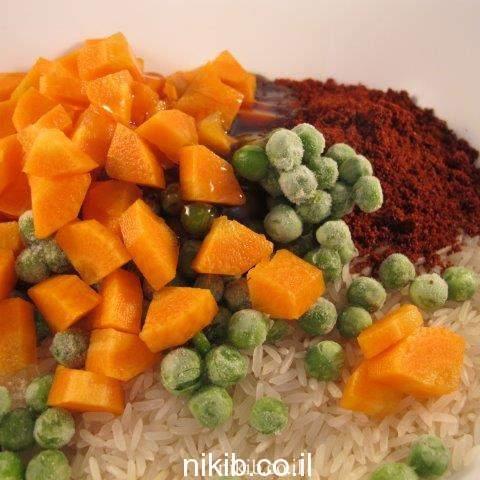 אורז אדום במיקרוגל