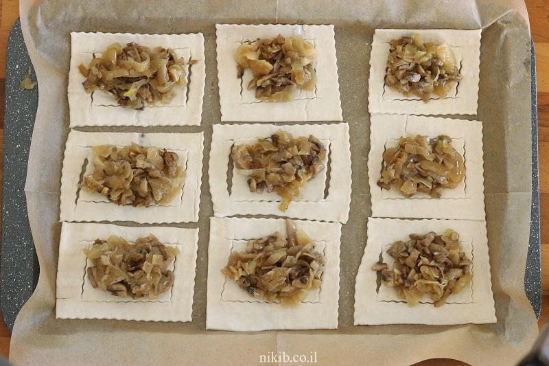 מאפה בצל ופטריות