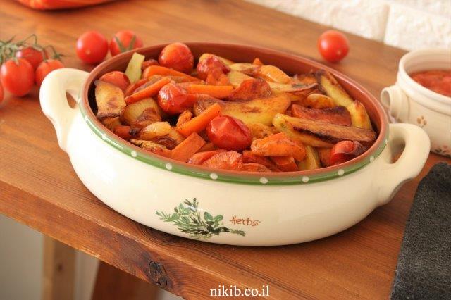 עוף עם ירקות בתנור