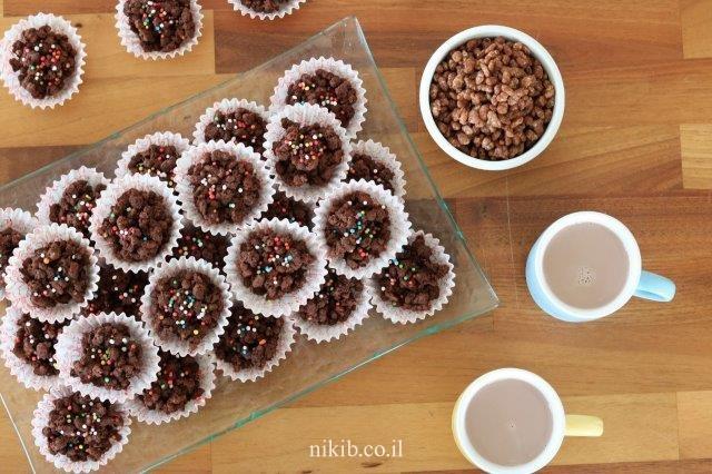 עוגיות קורנפלקס שוקולד