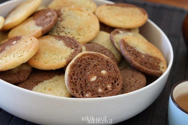 עוגיות שוקולד וניל